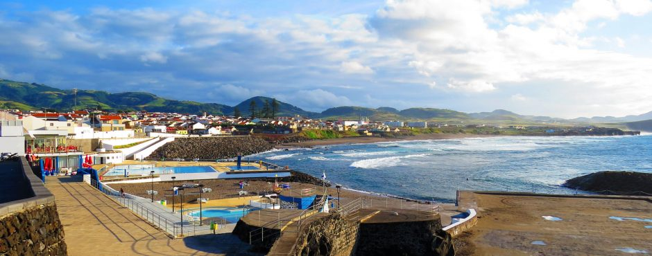 Azores Sao Miguel Pool on Beach