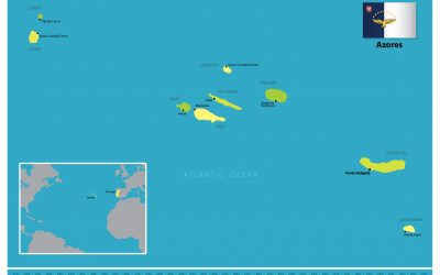 azores islands map ferry service