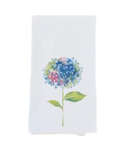 Azores Islands Linen Hydrangea Tea Towel