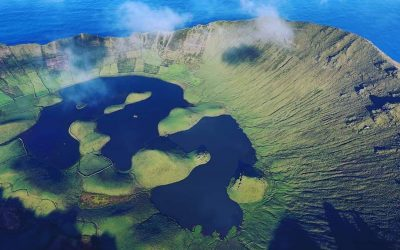 Corvo Island Aeriel View Azores Acores